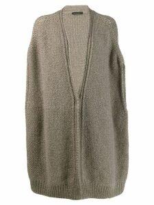 Fabiana Filippi oversized cardigan - Brown