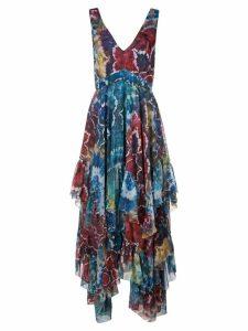 Alice+Olivia tie-dye kaleidoscope dress - Blue