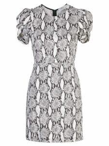 A.L.C. snakeskin print short sleeve dress - Black