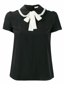 Red Valentino bow tie T-shirt - Black