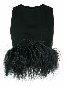 16Arlington feathered blouse - Black