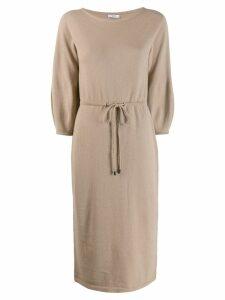 Peserico drawstring waist dress - Brown
