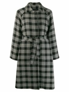Red Valentino belted check coat - Black