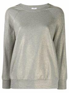 Peserico contrasting stripe sweatshirt - Grey