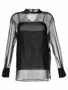 Emilio Pucci translucid silk blouse - Black