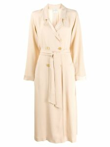 Forte Forte double breasted trench coat - Neutrals