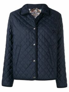 Salvatore Ferragamo short padded jacket - Blue