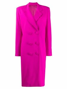 Attico double breasted coat - Pink