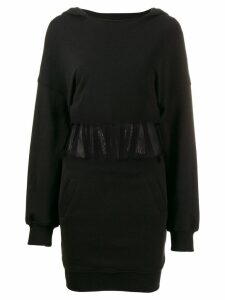 RtA long-sleeve fitted dress - Black