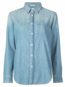 Mother distressed flag shirt - Blue