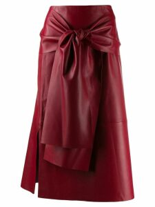 Joseph Renne leather skirt - Red
