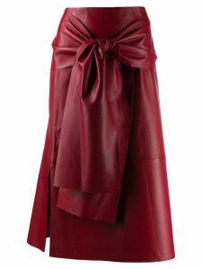 Joseph Renne leather skirt - Red