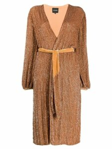 Retrofete wrap-style midi dress - Neutrals