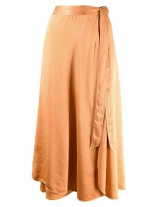 Forte Forte slim wrap skirt - Orange