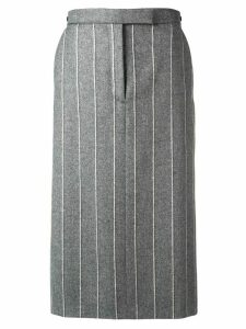Thom Browne Shadow Stripe Low Rise Skirt - Grey