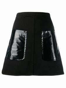 Nº21 oversized pocket a-line skirt - Black