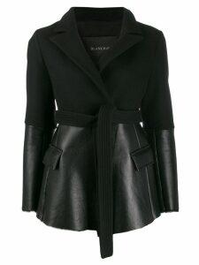 Blancha contrast belted jacket - Black
