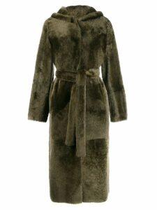 Yves Salomon tie waist coat - Green