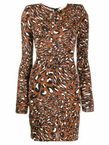 Alexandre Vauthier fitted leopard print dress - Brown