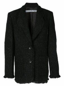 Alexander Wang oversized tweed blazer - Black