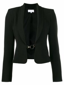 Patrizia Pepe hook fastened blazer - Black
