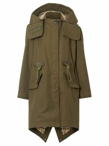 Burberry Detachable Hood Parka - Green