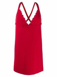 Miu Miu short crisscross dress - Red