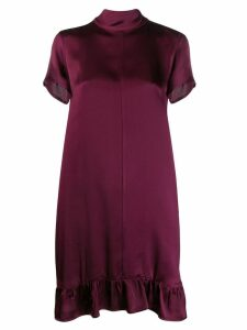 Semicouture ruffled shift dress - Purple