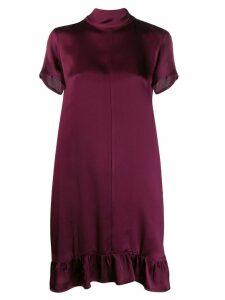 Semicouture ruffled shift dress - Purple