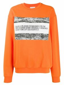 Calvin Klein Jeans Est. 1978 logo patch sweatshirt - ORANGE
