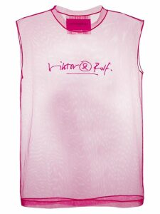 Victor & Rolf logo signature tank top - Pink