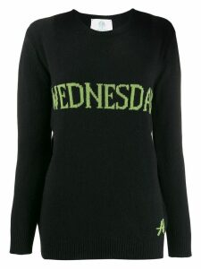 Alberta Ferretti Wednesday intarsia jumper - Black