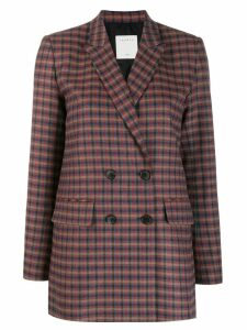 Sandro Paris checked double breasted blazer - Red