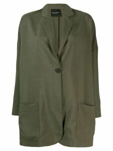 Erika Cavallini oversized button blazer - Green