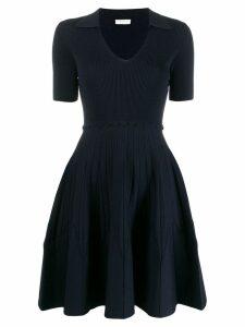 Sandro Paris Zoey flared dress - Blue