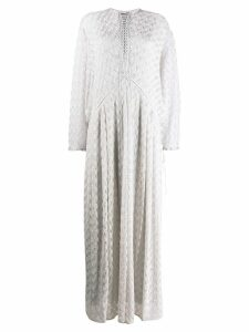 Missoni lace-up detail dress - Neutrals