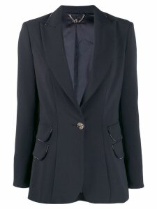 Elisabetta Franchi single button blazer - Black