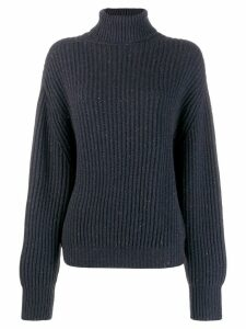 Brunello Cucinelli metallic thread jumper - Blue