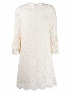Valentino floral lace dress - Neutrals