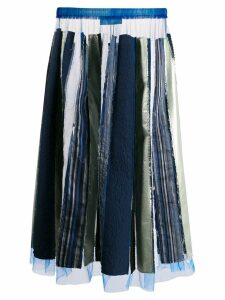 Viktor & Rolf recycled pleated skirt - Blue