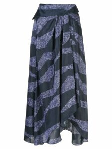 Isabel Marant printed asymmetric skirt - Blue