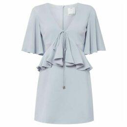 CMEO Short sleeve V neck cutout mini dress