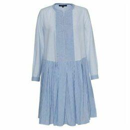 French Connection Nuru Schiffley Mix Striped Dress