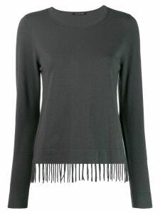 Luisa Cerano fringe hem sweatshirt - Grey