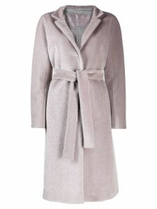 Herno belted wrap overcoat - Grey