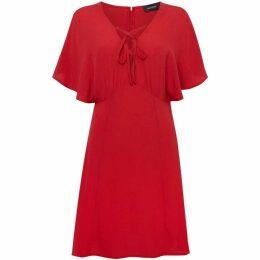 Mink Pink Short sleeves lace up v neck dress