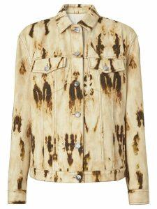 Burberry Monogram Motif Bleached Denim Jacket - Neutrals