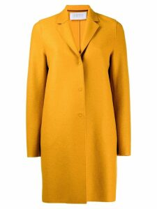 Harris Wharf London single breasted coat - Yellow