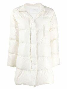 Fabiana Filippi oversized padded coat - White