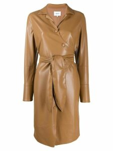 Nanushka tie waist coat - Brown